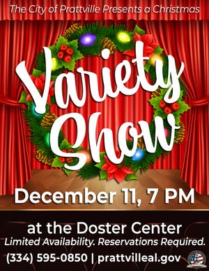 The city of Prattville will host a Christmas Variety Show on Dec. 11.