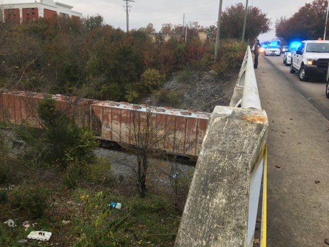 A woman is dead after being hit by a train in Nashville Wednesday afternoon.