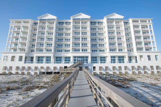 Margaritaville Beach Hotel in Pensacola Beach on Tuesday, Nov. 10, 2020. The hotel, closed for repairs since Hurricane Sally, is set to reopen Thanksgiving week.