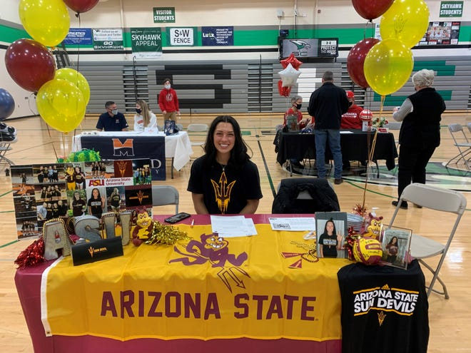 Setter Allie Gray committed to Arizona State volleyball in May 2018 and finally signed with the Sun Devils on Wednesday. She is ranked No. 34 nationally in Prep Volleyball's national top 150.