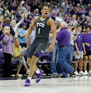 Desmond Bane is shown during a TCU vs Baylor men's basketball game at Schollmaier Arena in Fort Worth, Texas on Feb. 29, 2020.