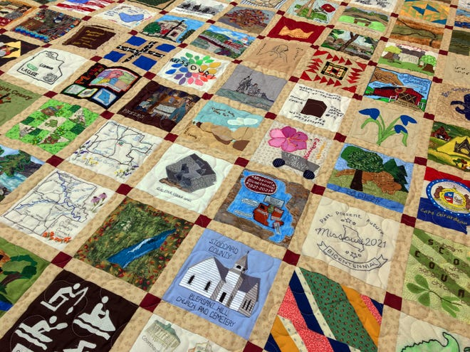 The Missouri Bicentennial Quilt is on display at History Museum on the Square in Springfield from Nov. 11 to Nov. 29, 2020.