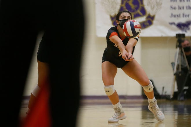 El Paso High's Hannah Payan during the game against Burges Tuesday, Nov. 10, at Burges High School in El Paso.