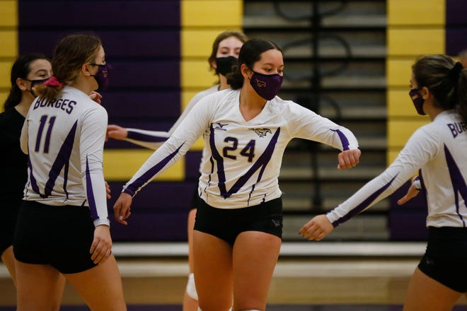 Burges' Dency Sanchez (24) during the game against El Paso High Tuesday, Nov. 10, at Burges High School in El Paso.