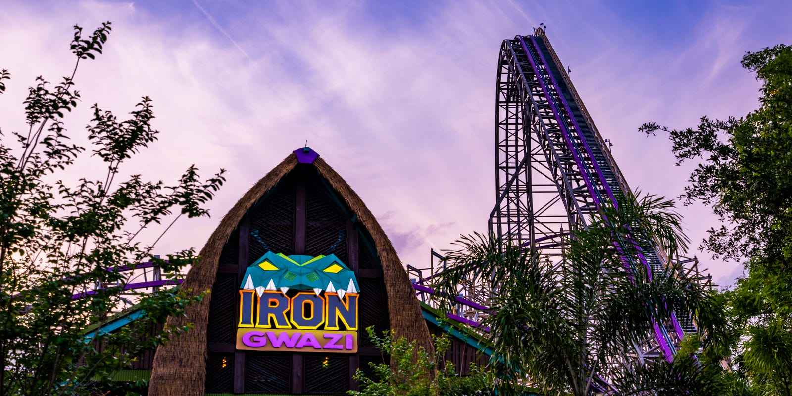Watch first onboard from Florida's Iron Gwazi roller coaster