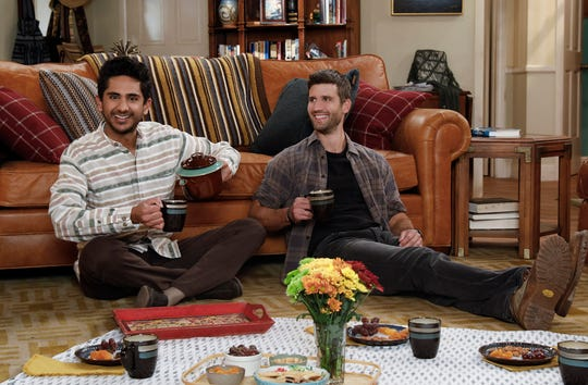 Adhir Kalyan, left, plays Al and Parker Young plays Riley in 'United States of Al,' a new Chuck Lorre comedy that CBS is adding to its primetime lineup this TV season.