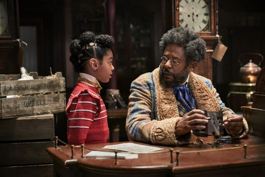 """Former toy man Jeronicus Jangle (Forest Whitaker) gets an unexpected visit from his granddaughter Journey (Madalen Mills) in the Netflix holiday musical """"Jingle Jangle: A Christmas Journey."""""""