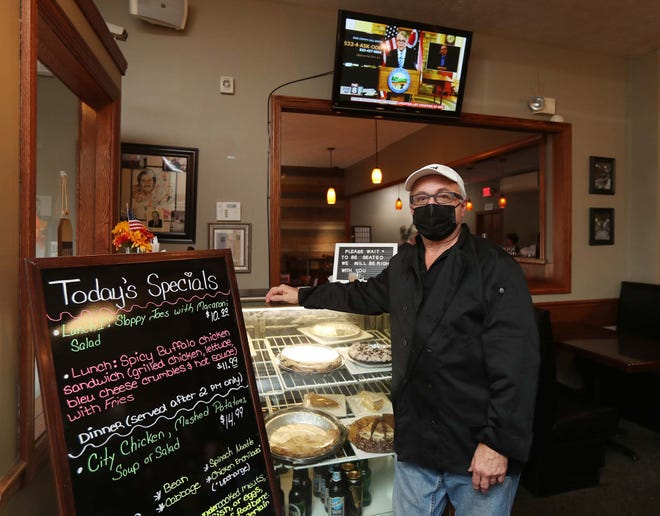 """Tom Metlovski, the owner of the Village Gardens Restaurant and Pub in Cuyahoga Falls, says he knows everyone has to do their part to slow the spread of COVID-19, but """"If we get shut down, oh my gosh, I don't know what's going to happen."""""""