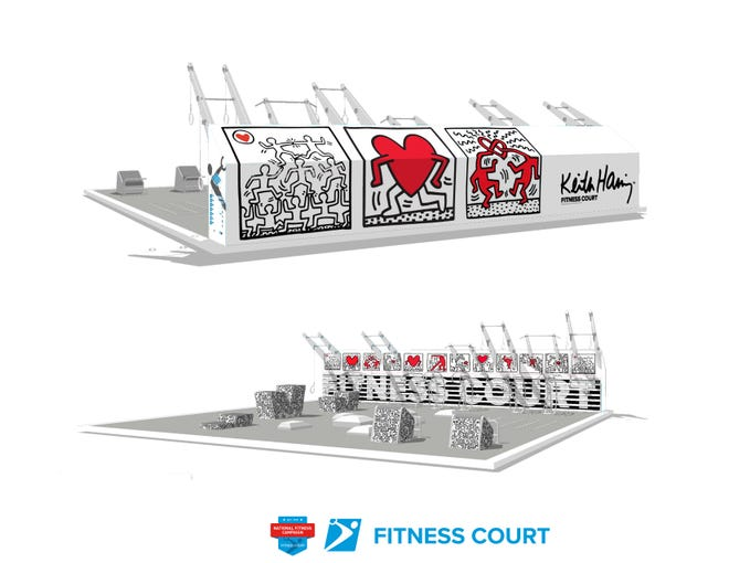The National Fitness Campaign's 2021 Arts and Culture Series features Keith Haring Fitness Courts.