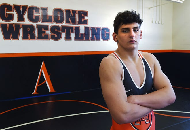 Gabe Greenlee is motivated to capture a state title in his senior year wrestling for Ames High. Greenlee placed second at 285 pounds in Class 3A last season.