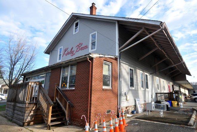 The former Kirby Bros. feed store building on Main Street is soon to be home to Harvest Coffee, Whole Hog Cafe, Wing it Forward and King's Road Brewing Company.