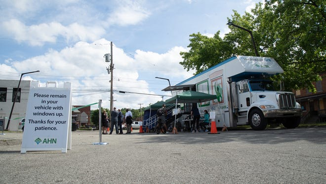 The AHN mobile clinic will offer COVID-19 testing Friday in Aliquippa.