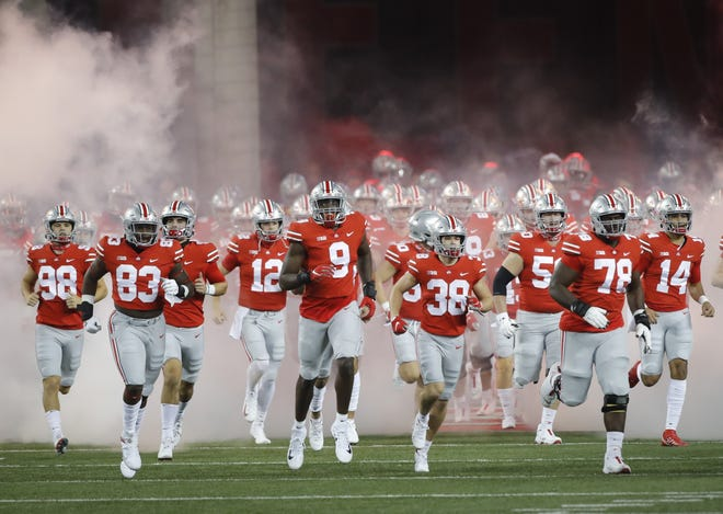 Who knows how many times Ohio State will enter the field under a cloud of smoke this season? Best to enjoy it while we can.