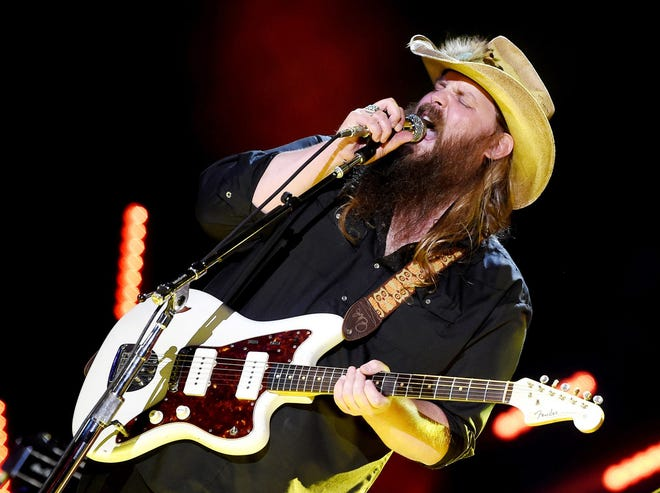 Chris Stapleton performs during the CMA Music Fest June 10, 2016 at Nissan Stadium.