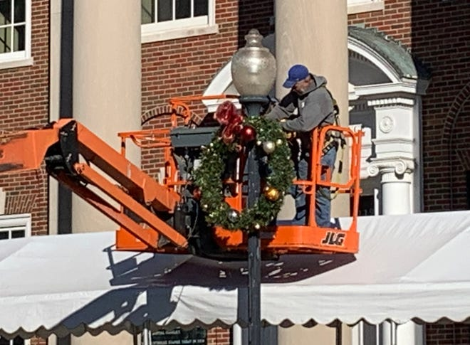 The Independence Square Association will host the annual Square Lighting during a virtual event at 6 p.m. Friday, which will be shown on the group's Facebook page @independencesquare. Workers set up wreaths and more than one mile of lights around the Square over the past few weeks. The historic Truman Courthouse will also be lit up. The family of Doug Cowan, president/CEO of the Community Services League and Square Association board member, will flip the switch in front of the Courthouse Exchange restaurant. Unlike past years, there will not be a street closed off and chairs set up for the ceremony. Blue Ridge Bank & Trust Company and Holiday FX helped sponsor the event.