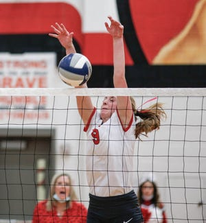 Glen Rose senior middle blocker Alexis Mims was named the district's Blocker of the Year.