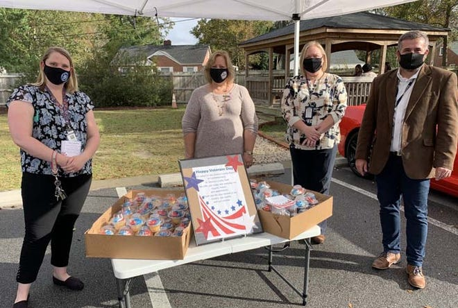 Onslow County Human Resources Department recently had celebratory cupcakes for the employees who are veterans who serve the community.