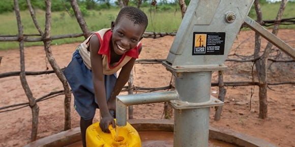Mike Rasor asked his donors to stop sending checks to his campaign for Summit County Clerk of Courts, and begin sending them to Living Water, a 501(c)(3) organization that builds water wells in Third World countries, shown here.
