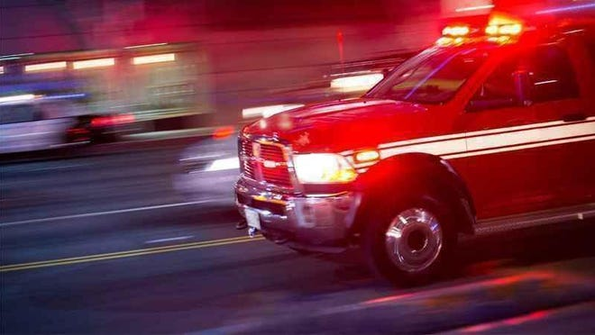 Firefighters responded to a fire on Route 488 in the town of Phelps on Friday.