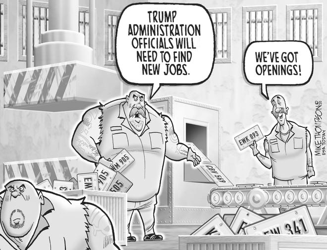 A Mike Thompson cartoon about the Trump White House