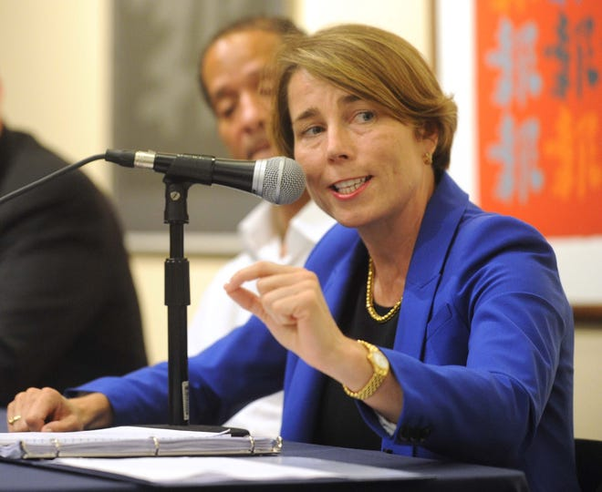 Massachusetts Attorney General Maura Healey on Tuesday, Aug. 05, 2014. (Marc Vasconcellos/The Enterprise)