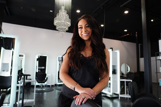 Kaylee Donovan Nihart, of Hampton, recently opened The Gallery Salon on Islington Street in Portsmouth. The chic salon is 3,400 square feet with crystal chandeliers and additional room for many stylists.