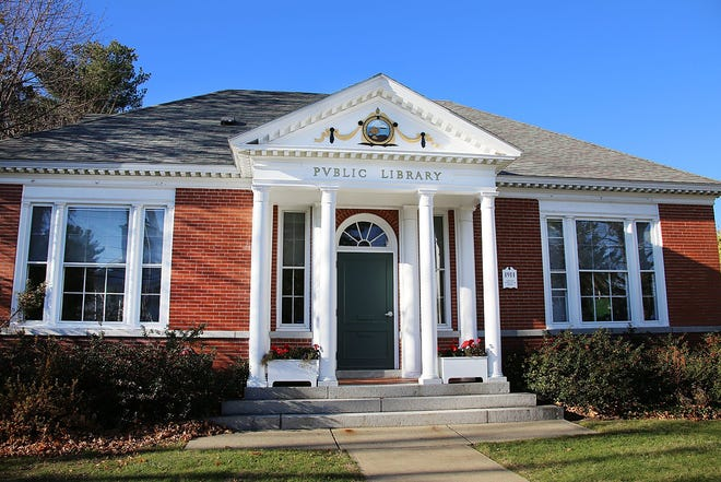The Classical Revival Rye Public Library, was donated by local resident Mary Tuck Rand in 1911, is one of latest properties added to NH State Register of Historic Places. Photo by Rich Beauchesne/Seacoastonline