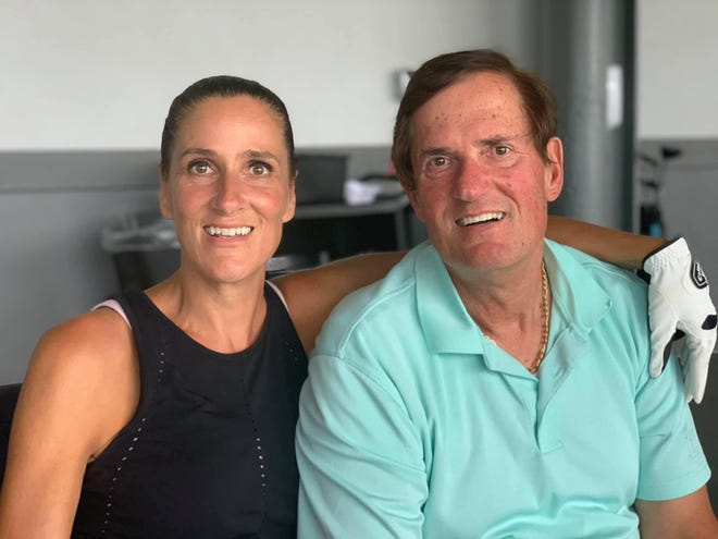 Tracy Ciucci of Wellington is pictured with her father, Ceaser Ciucci. Ceaser was dying of a terminal lung disease before his life was saved by a double lung transplant in September.