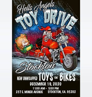 The Hells Angels Chapter of Stockton is planning a toy drive and other opportunities to help those in need.