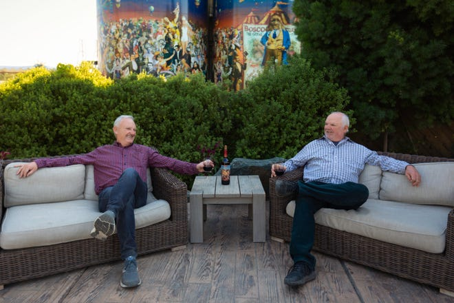 Brothers David Phillips, left, and Michael Phillips own Michael David Winery in Lodi, the 2020 Wine Star Award American Winery of the Year by Wine Enthusiast magazine.