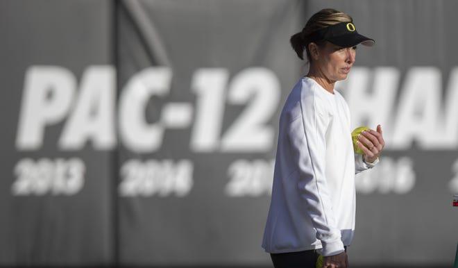 Melyssa Lombardi is heading into her third season as Oregon's softball coach.