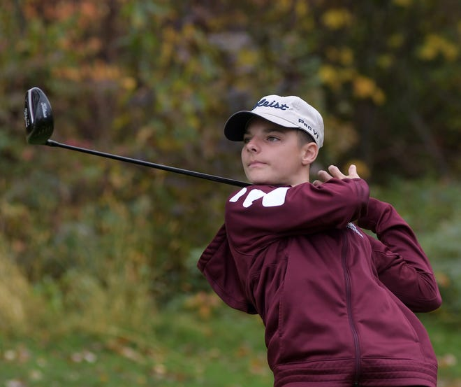 Millbury's Tom Rembiszewski tied Sutton's Jack Moy for medalist honors at the Pod 3 golf championships at Dudley Hill.