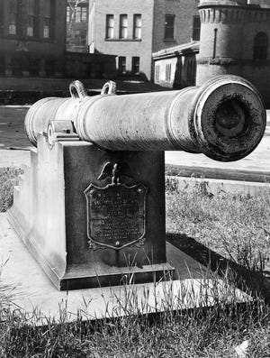 The 7-ton cannon was brought to Worcester more than a century ago, in part through the efforts of U.S. Sen. George Frisbie Hoar, one of Worcester's greatest statesmen. He lived on Oak Avenue.