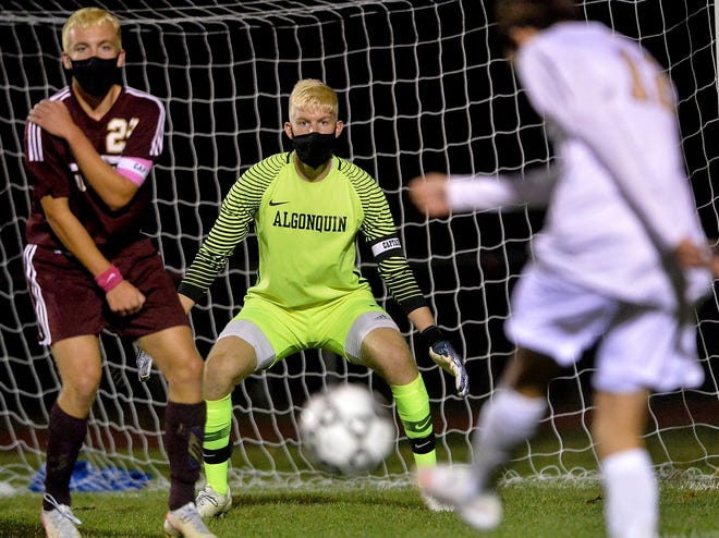 Algonquin's Brendan McCarthy in action during a recent game against Shrewsbury.