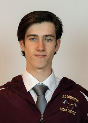 Algonquin's William Lamburn won the Pod 8 boys' cross-country championship on his home course
