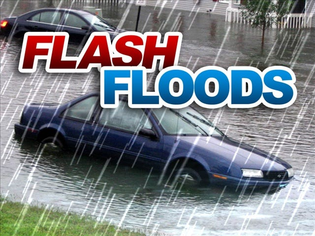 A flash flood warning was issued for Alamance and surrounding counties until 4 p.m. Thursday, Nov. 12.