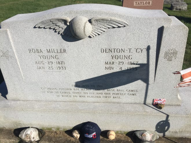 "Baseball legend Denton ""Cy"" Young is buried in the Peoli Cemetery in southern Tuscarawas County."