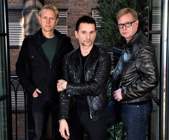 2020 Rock and Roll Hall of Fame inductee Depeche Mode, from left: Martin Gore, Dave Gahan and Andrew Fletcher.