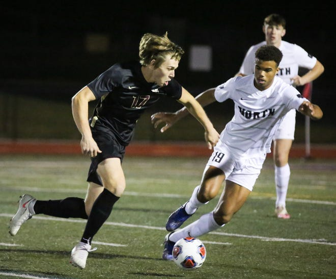 Ryan Blackburn scored the tying goal and assisted on the winning goal as New Albany defeated Cincinnati St. Xavier 2-1 on Nov. 11 in a Division I state semifinal at Xenia.