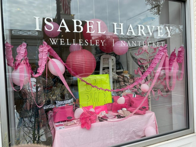 Wellesley downtown turned pink with decorated storefronts, promotions and awareness campaigns in honor of Breast Cancer Awareness Month.