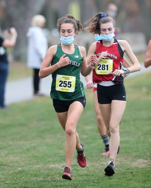 Olivia Langlan was a top finisher for Marshfield last week at the Patriot League Championships. [Wicked Local Photo/ Robin Chan]