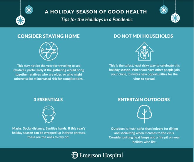 Emerson Hospital has shared tips to have a healthy holiday season this year.