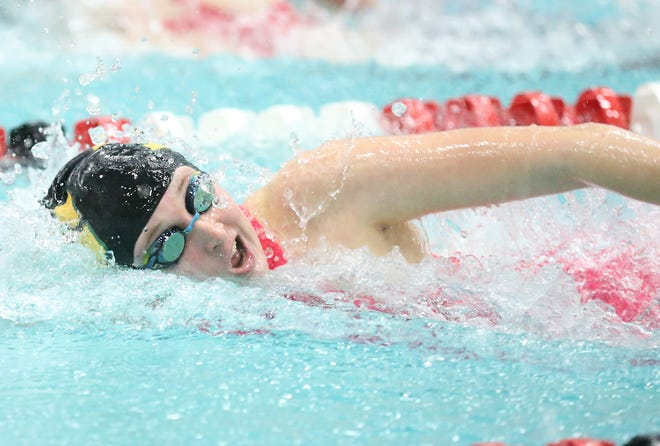 D.C. Everest's Sara Mayer swims in the 100-yard freestyle during the 2019 WIAA Division 1 state meet in Madison.
