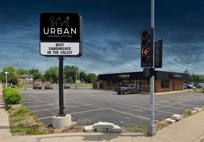Rendering shows what Urban Modern Kitchen will look like when signage is installed in December. The new cafe is at the corner of E. Wisconsin Avenue and Meade Street in Appleton.