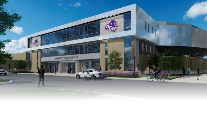 Exterior view of the designs for the renovation for ACU's Moody Coliseum. Renovations will begin this winter and continue until August 2022.
