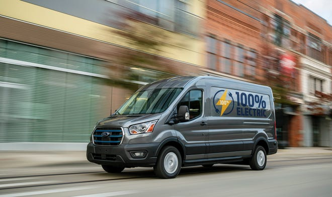Prices for the 2022 Ford E-Transit electric commercial vehicle will start at $45,000.