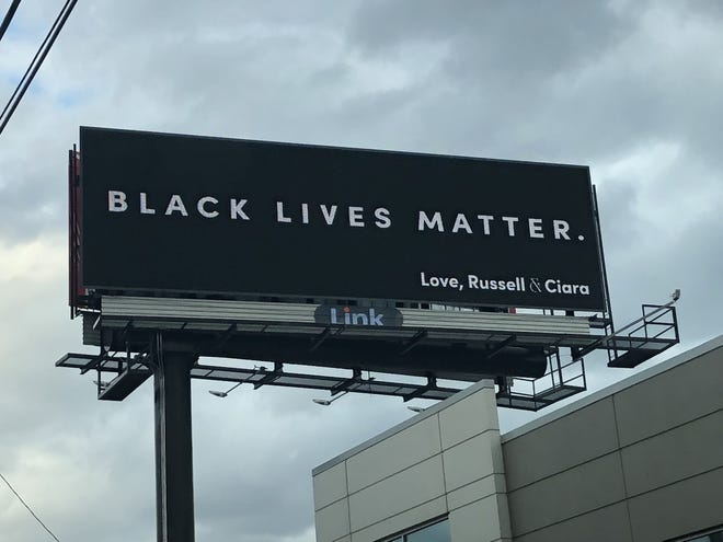 A Black Lives Matter billboard in Milwaukee appears to have been paid for by Ciara and Russell Wilson.