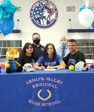 Lenape Valley pitcher Alexia Lacatena signed a National Letter of Intent with Kentucky.