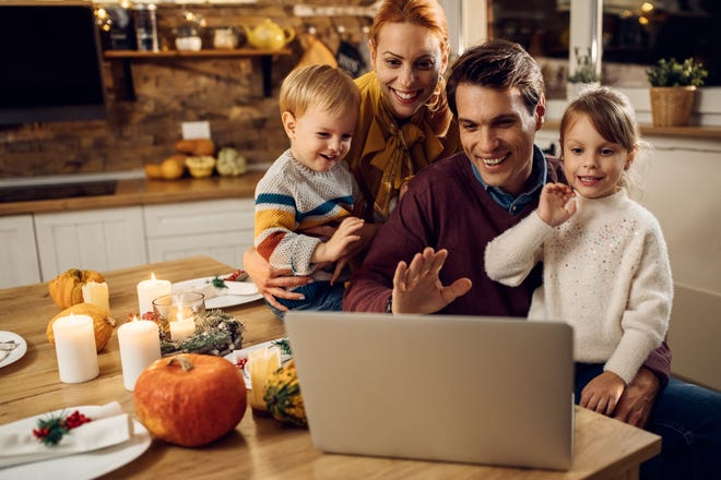 Planning virtual get-togethers is one option for families who want to stay connected on Thanksgiving without physically being together.