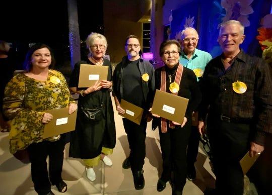 Artist Council juried award recipients 2019 were Martha Cowan, Karen Curry, Mike McLain, Tom Minderhoff, Dennis Johnson, Gary Patterson and Nettie Pena.